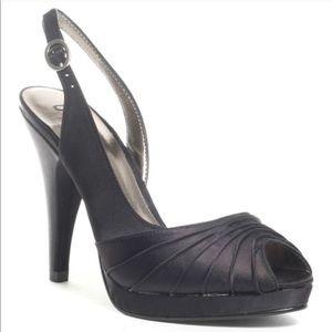 Unlisted Black Satin Fabric Heels 9 But Run Small
